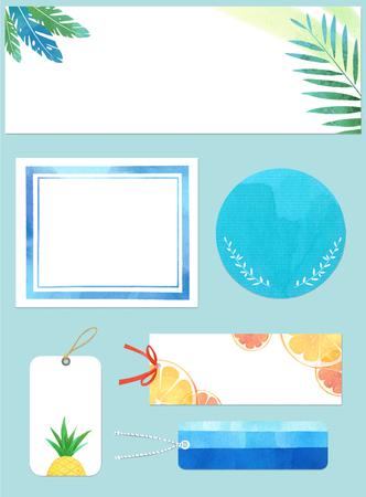 Banque d'images - Conception de cadre de modèle pour bannière, pancarte, invitation. Fond d'été.