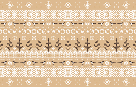 Vector illustration- Winter design pattern in various color tones. 009