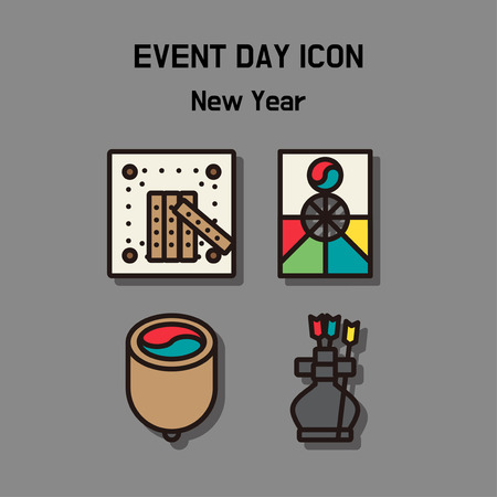 Event day icon set. Express all kinds of event as character icon set. 042