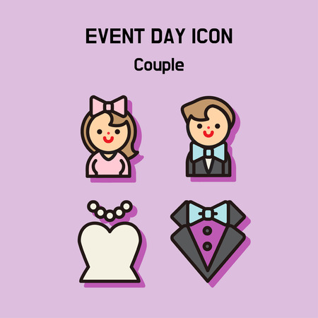 Event day icon set. Express all kinds of event as character icon set. 034 Stock Vector - 97619158