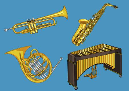 Illustration vectorielle - divers objet concept rétro. illustration vintage, instrument, thé, équipement d'escalade et ainsi de suite 005