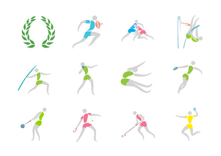 Simple linear pictogram, Olympic concept set 002