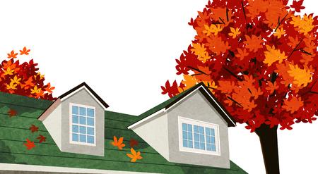 Vector of autumn landscape, colorful background 005
