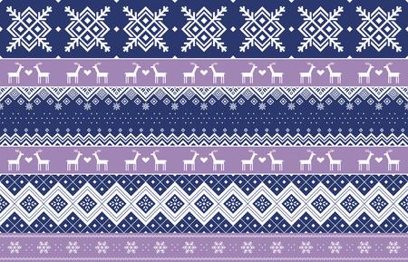 Vector illustration- Winter design pattern in various color tones. 008 Ilustração