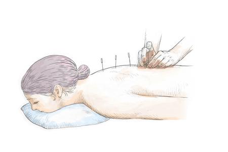 Vector dibujado a mano ilustración de la medicina oriental. hierbas medicinales, clínica médica oriental 002