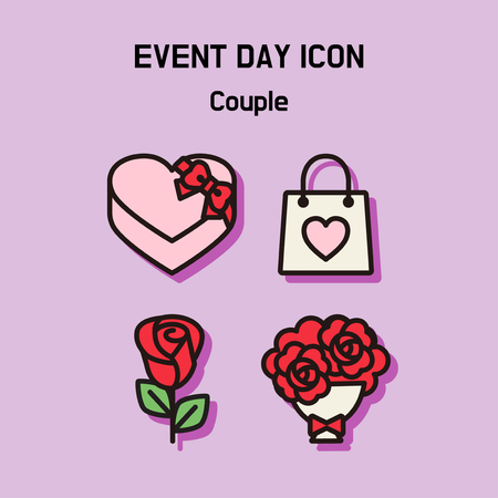 Event day icon set. Express all kinds of event as character icon set. 033