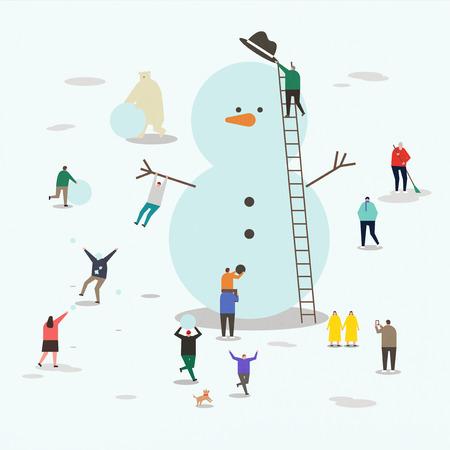 Illustration- People enjoying various outdoor activities. 003 Illustration