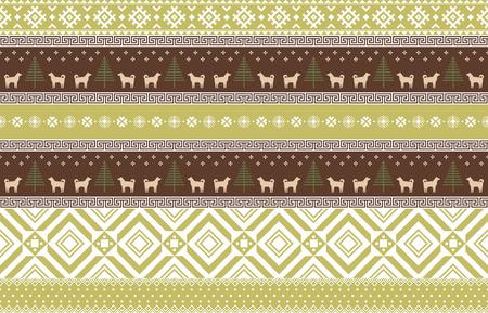 Vector illustration- Winter design pattern in various color tones. 005
