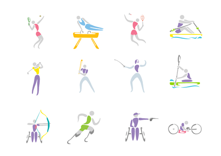 Simple linear pictogram, Olympic concept set 004