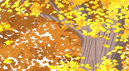 Vector of autumn landscape, colorful background 006