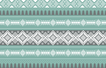 Vector illustration- Winter design pattern in various color tones. 010