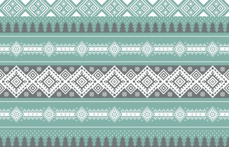 Vector illustration- Winter design pattern in various color tones. 010