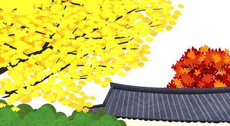 Vector of autumn landscape, colorful background 009