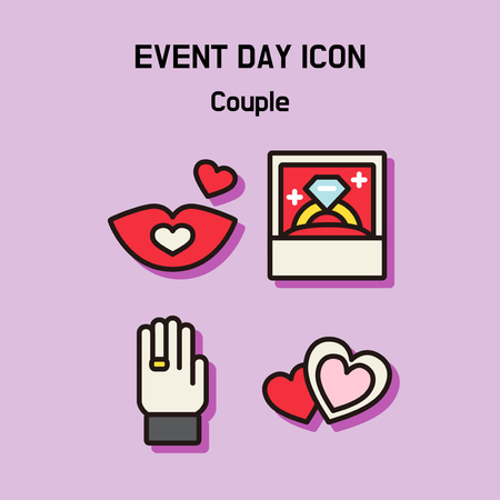 Event day icon set. Express all kinds of event as character icon set. 035