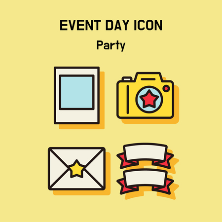 Event day icon set. Express all kinds of event as character icon set. 025