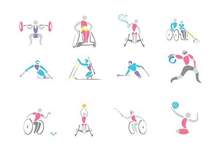 Simple linear pictogram, Olympic concept set 005 Çizim