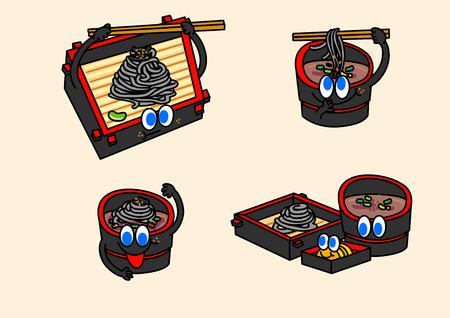 cartoon illustration, set of snack food theme 007 Çizim