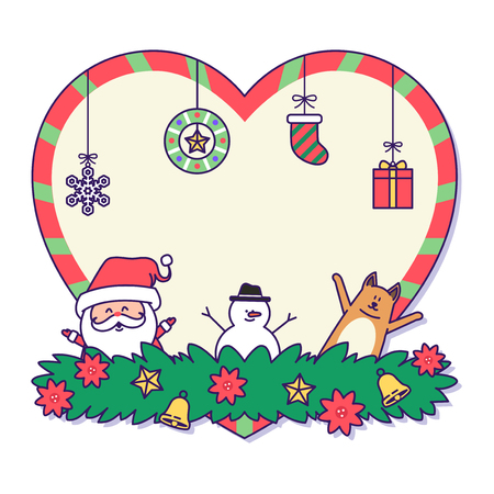 Christmas banner illustration. Vector banners with Santa Claus and gold puppy isolated on white. 029 Illustration