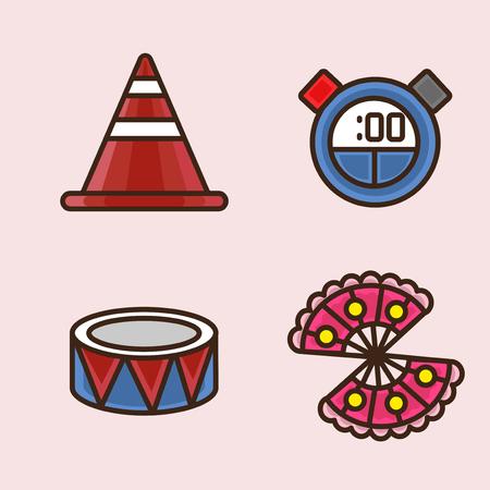 Vector- flat icon set. concept for honey bee, flowers, gift set, traditional food and so on.041