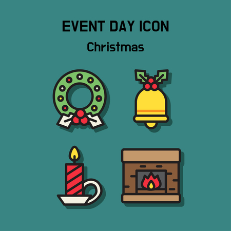 Event day icon set. Express all kinds of event as character icon set. 003 Ilustração