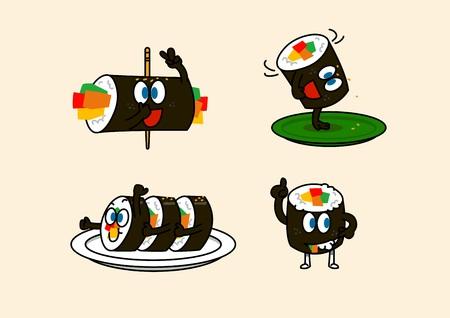 cartoon illustration, set of snack food Reklamní fotografie - 97867814