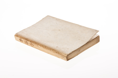A vintage book isolated on a white background Stockfoto