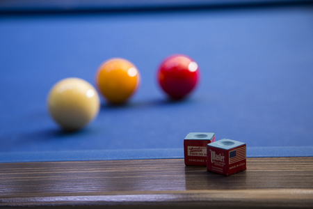 RF photo - object of billiards, cue, billiards balls 148