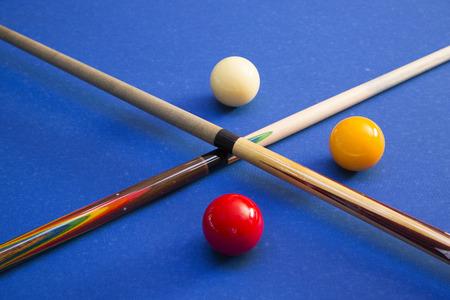RF photo - object of billiards, cue, billiards balls 121