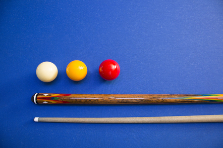 RF photo - object of billiards, cue, billiards balls 143 Banque d'images