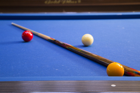 RF photo - object of billiards, cue, billiards balls 095