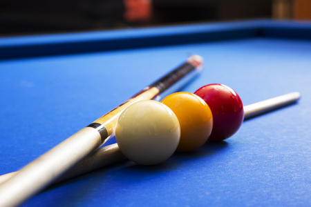 RF photo - object of billiards, cue, billiards balls 130