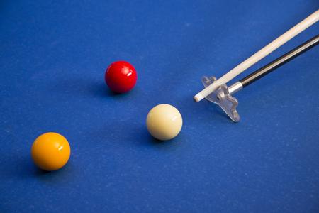 RF photo - object of billiards, cue, billiards balls 111