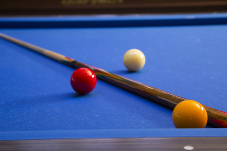 RF photo - object of billiards, cue, billiards balls 079 Banque d'images