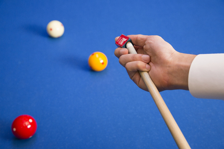 RF photo - object of billiards, cue, billiards balls 113 版權商用圖片