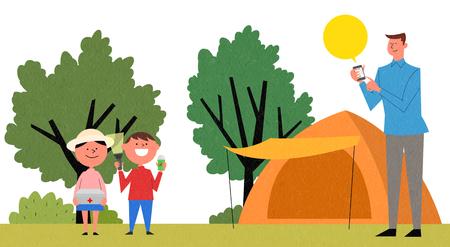 Vector - Camping safety regulations illustration Stock fotó - 98271824