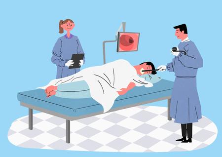 Illustration for a full medical examination