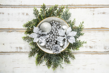 Stock photo for objects of Christmas. Christmas gift box, frame and lights and so on.