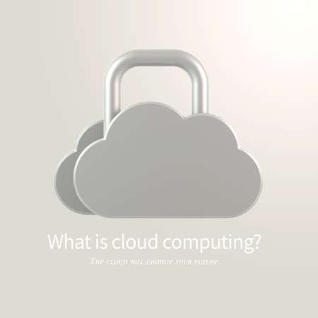 Cloud Computing concept virtual cloud symbol over light background