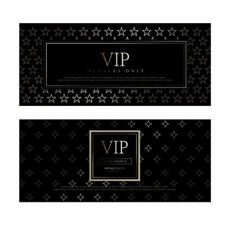 VIP premium invitation cards design. Simply Black design template