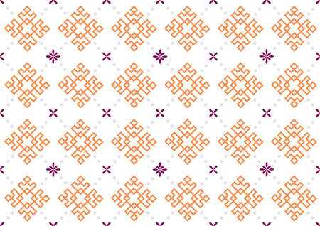 Retro vector seamless pattern design. Set of monochrome geometric ornaments. 003