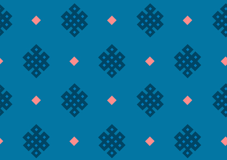 Retro vector seamless pattern design. Set of monochrome geometric ornaments. 011 Illustration