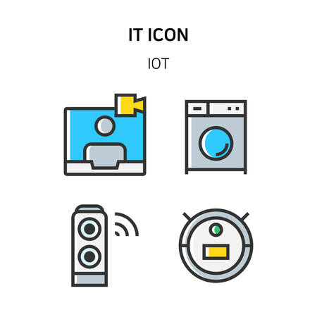 Set of Icon for eco energy, build, bitcoin and IoT industry. 058 Stock Illustratie
