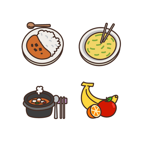 Vector - Related to life and daily flat icon set.047
