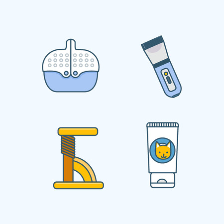 Vector - Set of Pets Related Vector Icons. Flat vector related icon for web and mobile applications 012