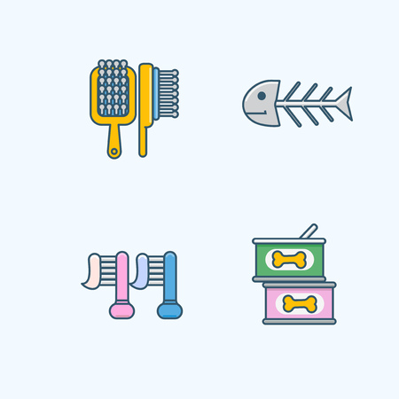 Vector - Set of Pets Related Vector Icons. Flat vector related icon for web and mobile applications 028