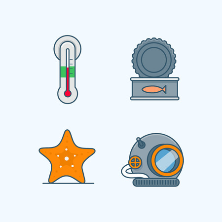 Vector - Set of Pets Related Vector Icons. Flat vector related icon for web and mobile applications 015 Çizim