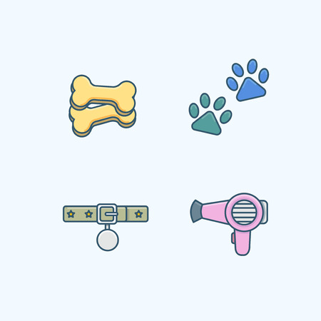 Vector - Set of Pets Related Vector Icons. Flat vector related icon for web and mobile applications 026