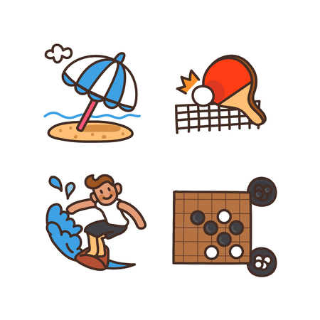 Vector - Related to life and daily flat icon set.042