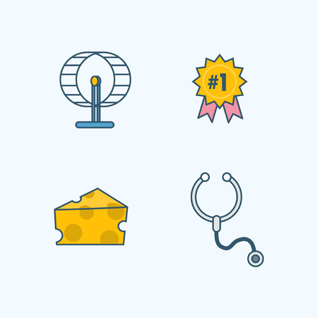 Vector - Set of Pets Related Vector Icons. Flat vector related icon for web and mobile applications 010