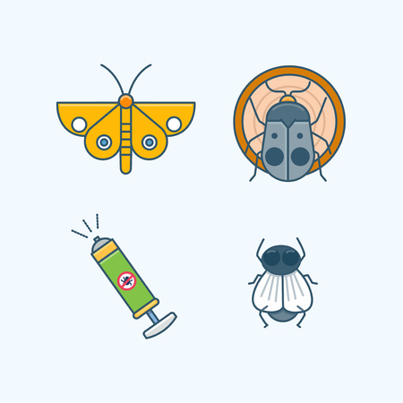 Vector - Set of Pets Related Vector Icons. Flat vector related icon for web and mobile applications 020 Çizim